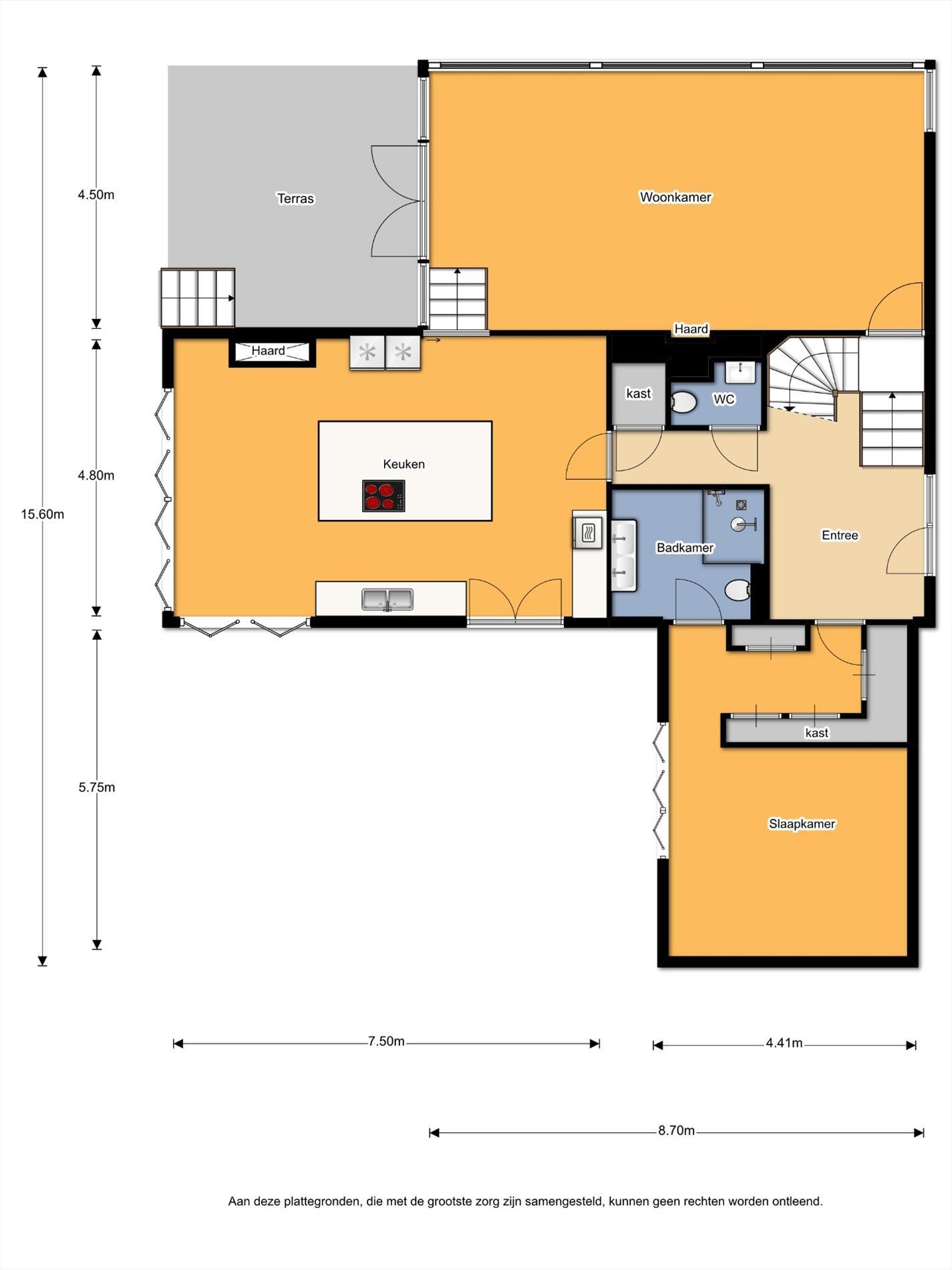 Floorplan - Hans ten Brugstraat 1A, 7447 GD Hellendoorn