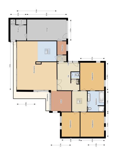 Floorplan - Loudonlaan 10, 5631 NE Eindhoven