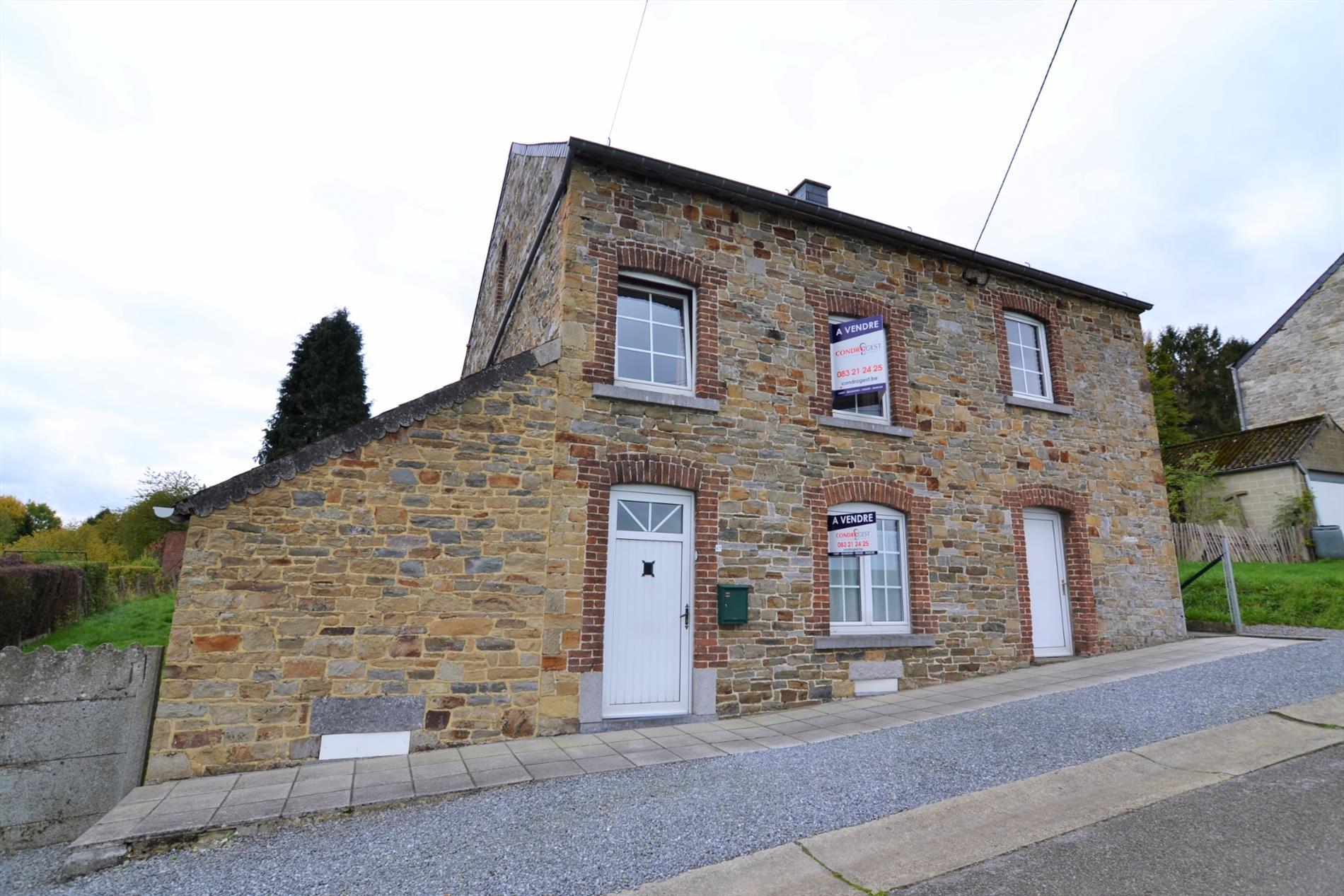 Vendu condrogest belle maison 4 fa ades en pierre maison for Maison options