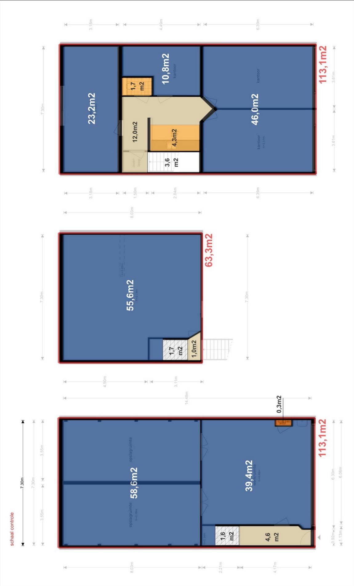 Floorplan - Aziëlaan 7d, 7681 NC Vroomshoop