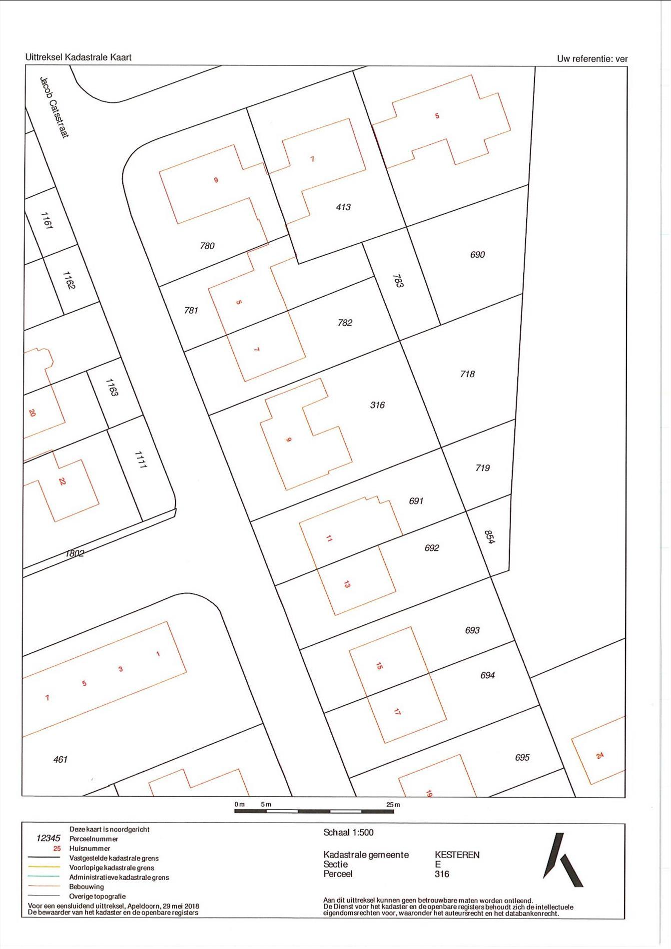 Floorplan - Jacob Catsstraat 9, 4041 XV Kesteren