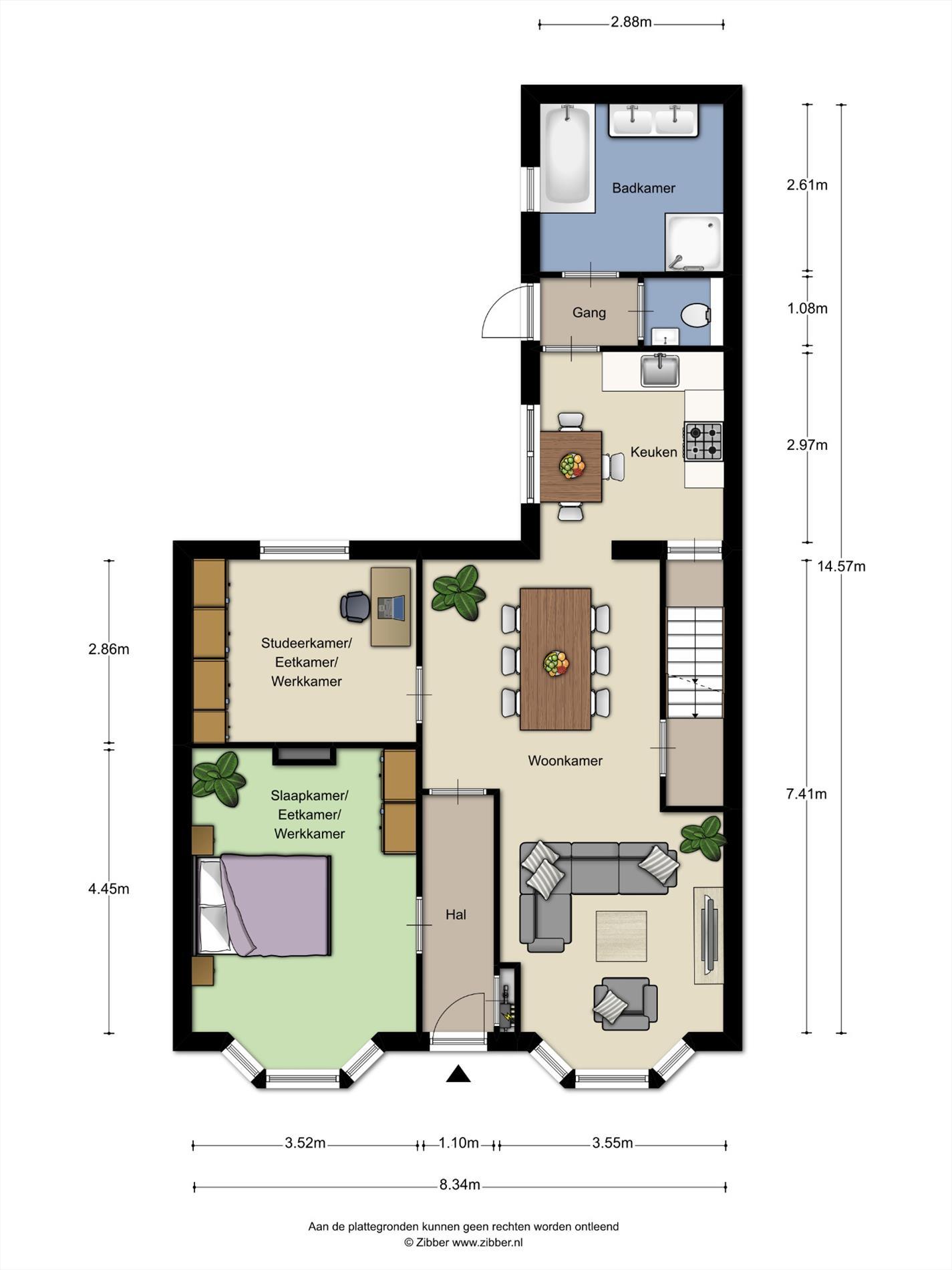 Floorplan - Marktstraat 73, 5731 HV Mierlo