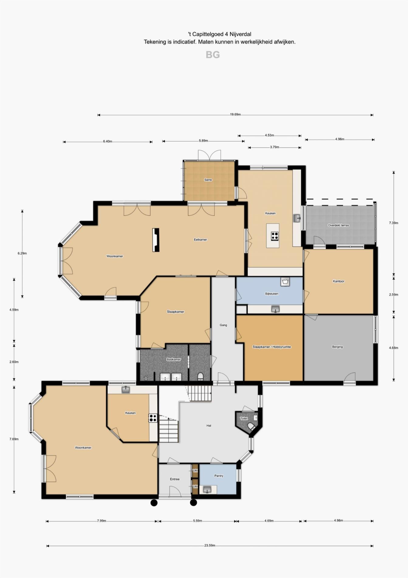 Floorplan - 'T Capittelgoed 4, 7441 DK Nijverdal