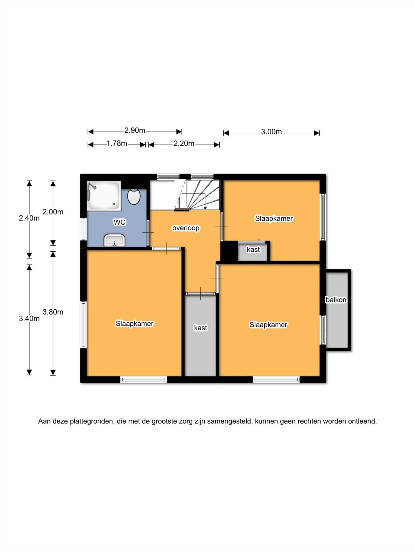 Floorplan - Wemekampstraat 43, 7447JB Hellendoorn