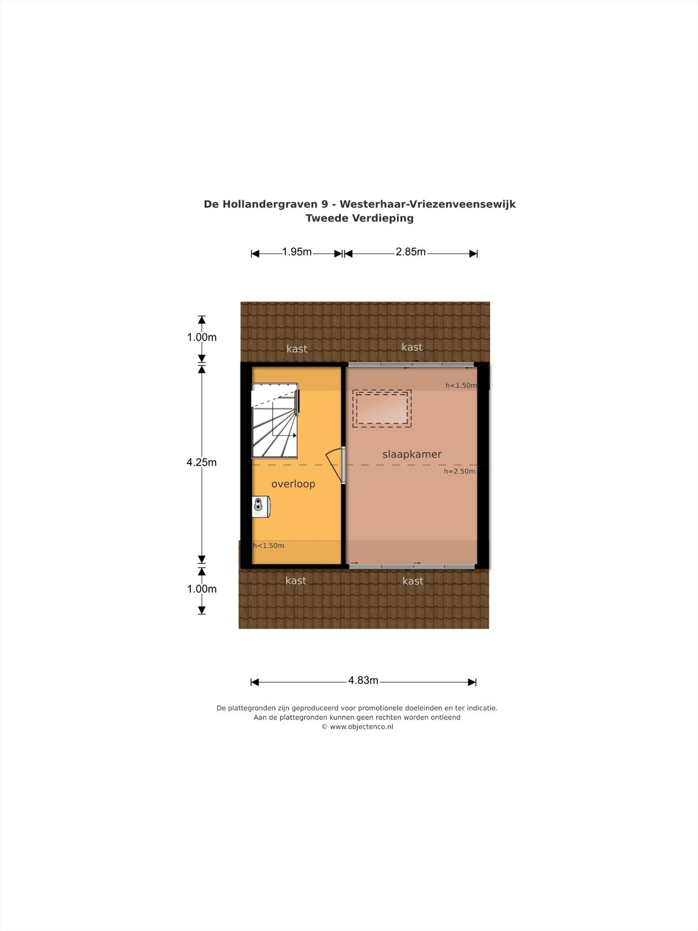 Floorplan - De Hollandergraven 9, 7676 ED Westerhaar-Vriezenveensewijk