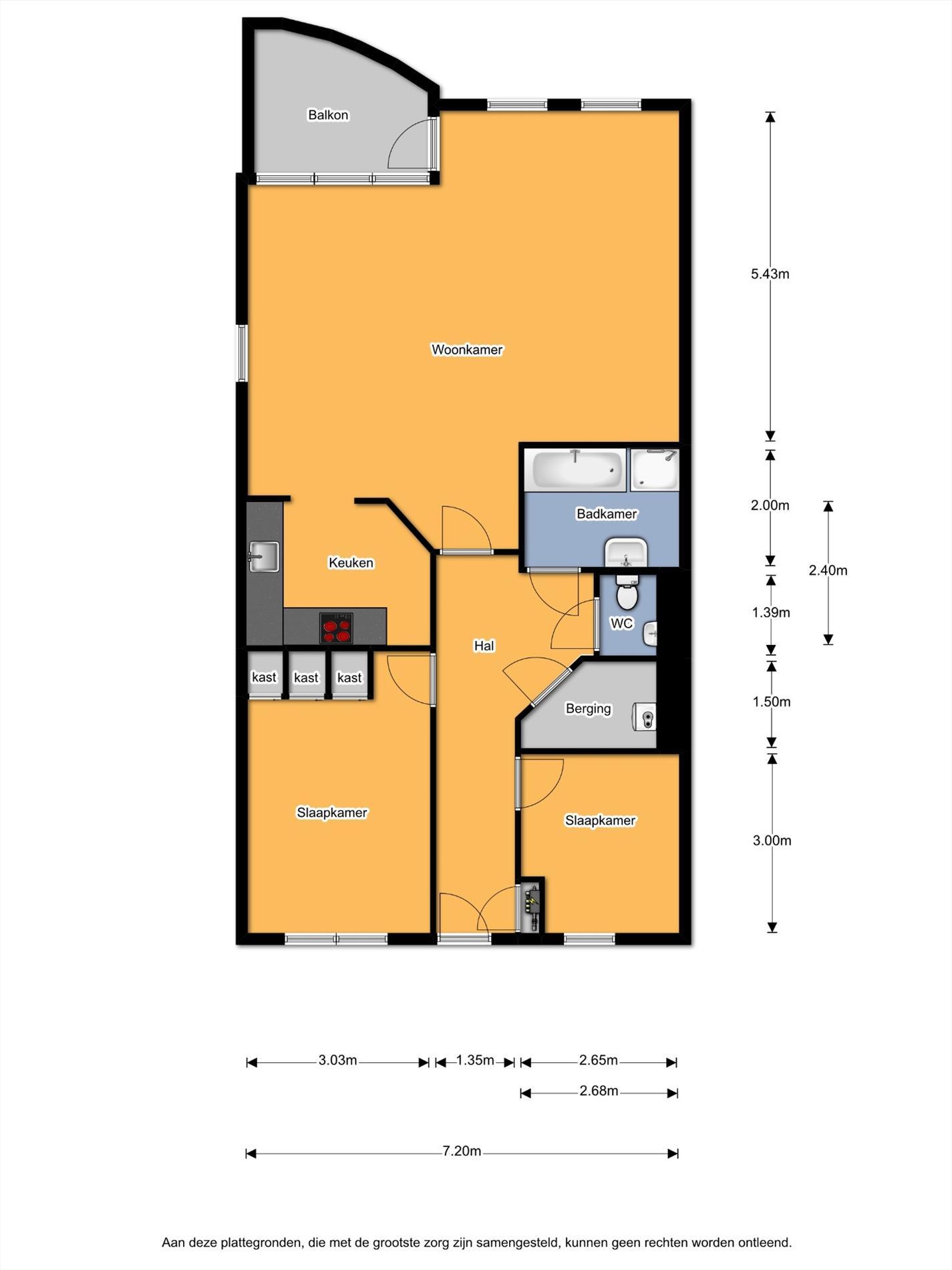 Floorplan - De Joncheerelaan 3-9, 7441 HA Nijverdal