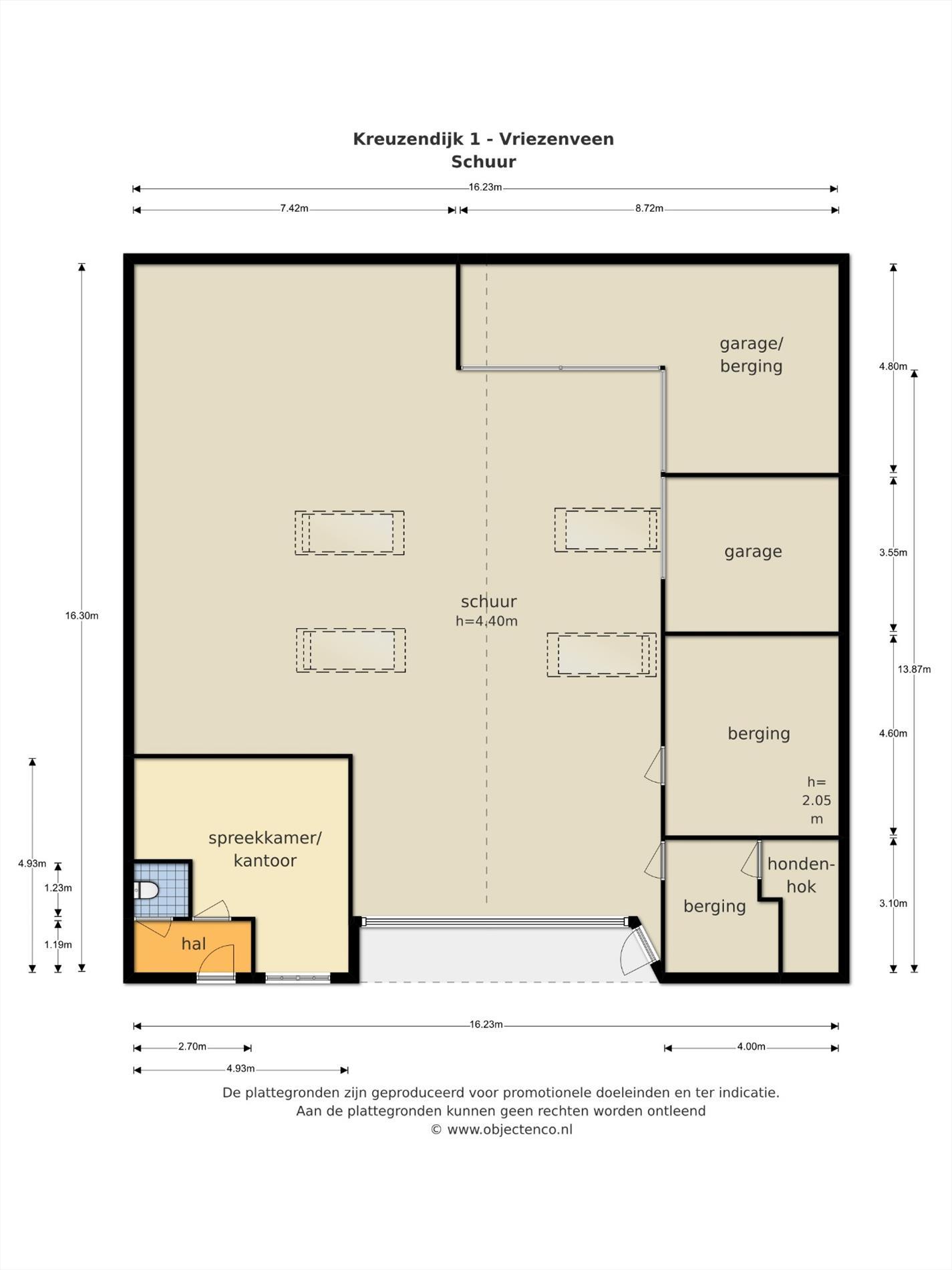 Floorplan - Kreuzendijk 1, 7671 SC Vriezenveen