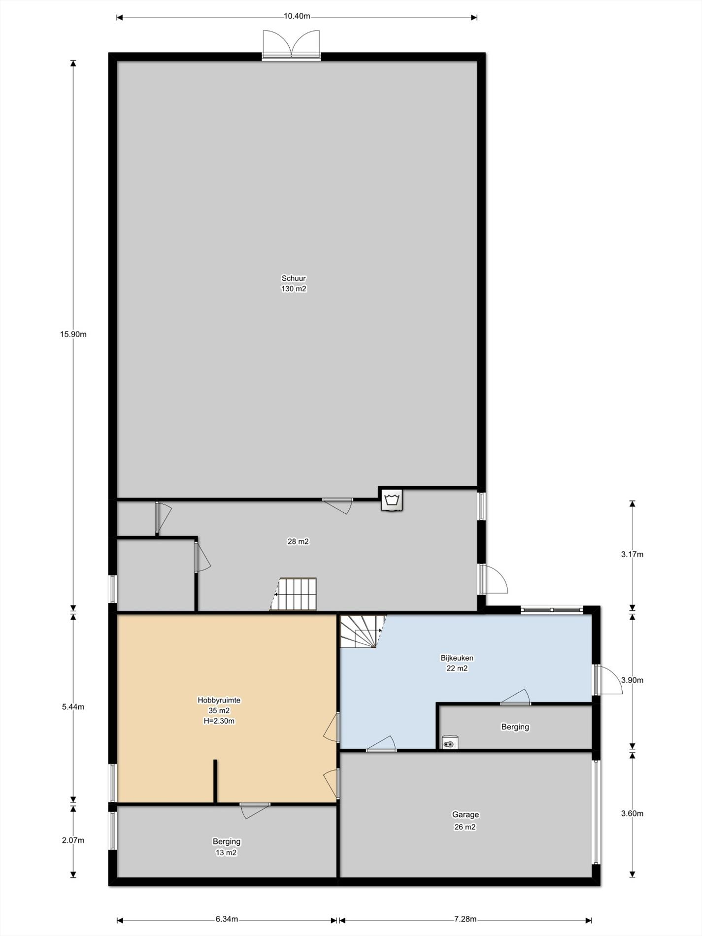 Floorplan - Waalbandijk 50, 6669 MC Dodewaard