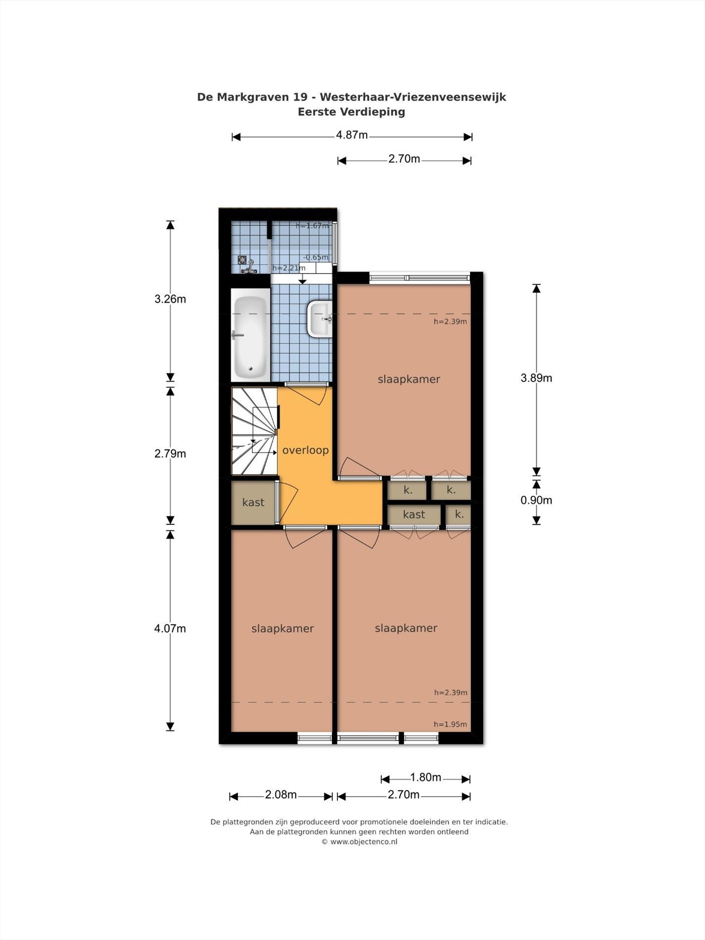 Floorplan - De Markgraven 19, 7676 EH Westerhaar-Vriezenveensewijk